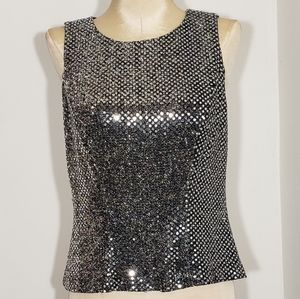 All that Jazz silver sequin top size 4